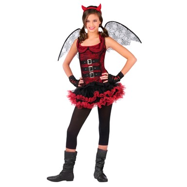 Girls Devil Wings Costume