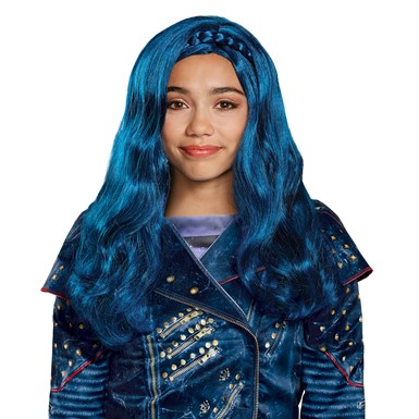 Girls Disney Descendants Evie Isle Look Blue Wig