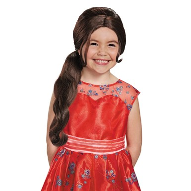 Girls Disney Elena of Avalor Halloween Wig