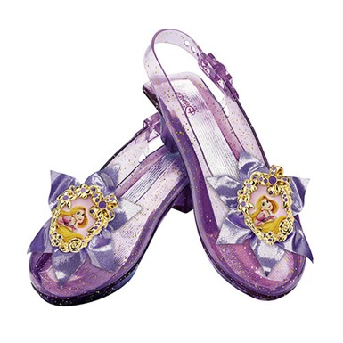Girls Disney Rapunzel Sparkle Halloween Shoes Set