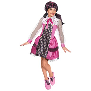 Girls Draculaura Monster High Halloween Costume