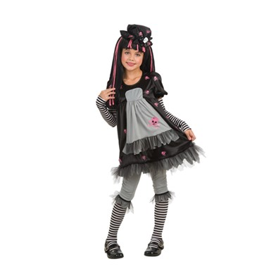 Girls Drama Queens Child Goth Costume