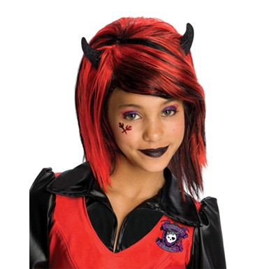 Girls Drama Queens Devilish Devil Wig