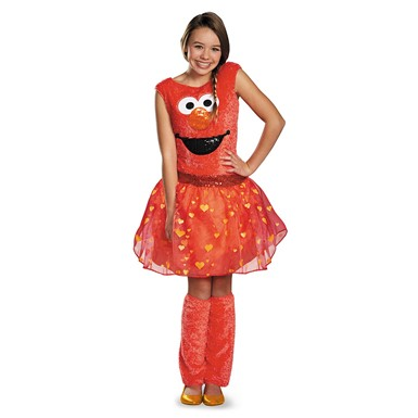 Girls Elmo Tween Deluxe Halloween Costume