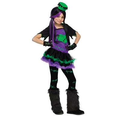Girls Funkie Frankie Monster Halloween Costume