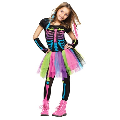 Girls Funky Punky Bones Costume