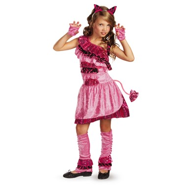 Girls Glam Kitty Costume