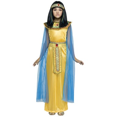 Girls Golden Cleopatra Halloween Costume