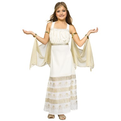 Girls Golden Goddess Halloween Costume
