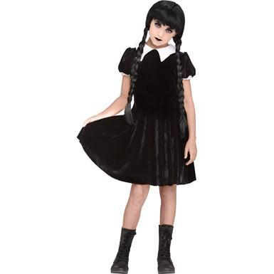 girls gothic girl halloween costume girls wednesday addams