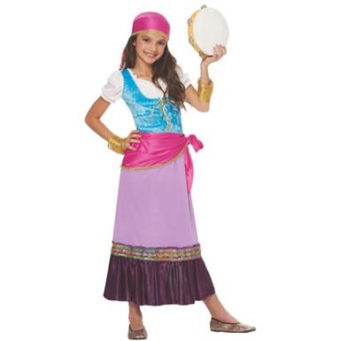 girls gypsy fortune teller child halloween costume