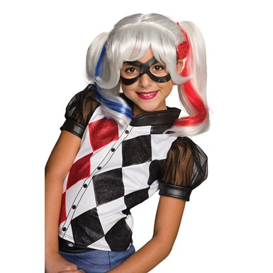 Girls Harley Quinn Costume Wig