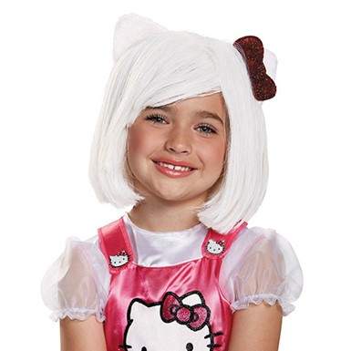 Girls Hello Kitty Halloween Wig