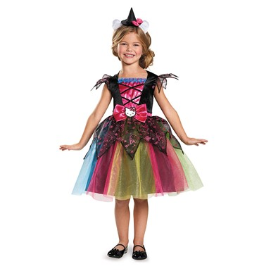 Girls Hello Kitty Witch Costume