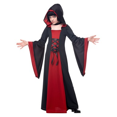 Girls Hooded Robe Costume - Red