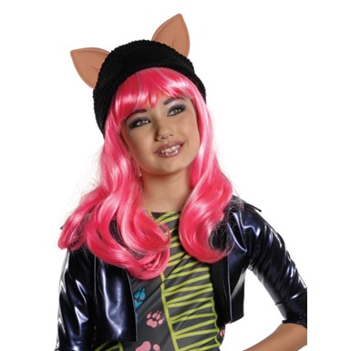 Girls Howleen Monster High Halloween Cartoon Wig