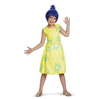 Girls Inside Out Classic Joy Halloween Costume