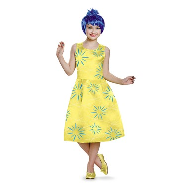 Girls Inside Out Deluxe Joy Halloween Costume