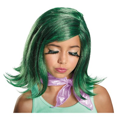 Girls Inside Out Disgust Pixar Costume Wig Kit