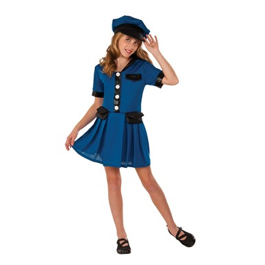 Girls Lady Cop Costume