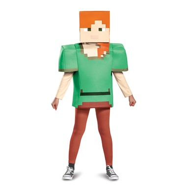 Girls Minecraft Alex Classic Halloween Costume