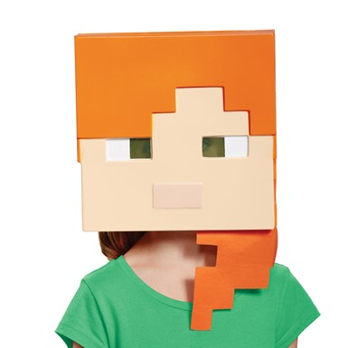 Girls Minecraft Alex Vacuform Halloween Mask