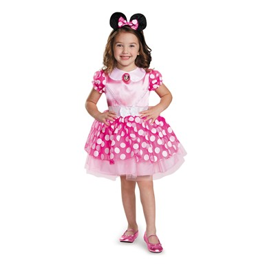 Girls Pink Minnie Mouse Classic Tutu Costume
