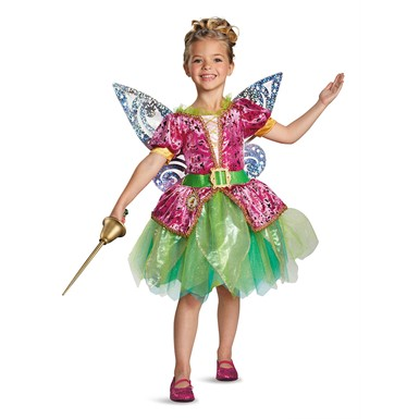 Girls Pirate Tinker Bell Deluxe Halloween Costume