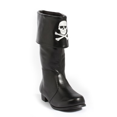 "Girls Pirate with Skulls 1"" Costume Boots"