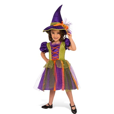 Girls Pumpkin Witch Costume