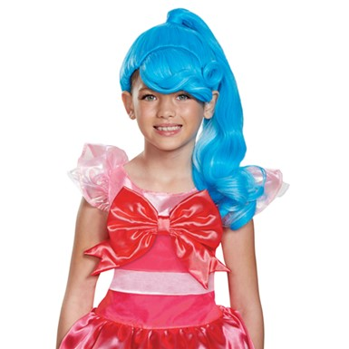 Girls Shopkins Jessicake Blue Costume Wig
