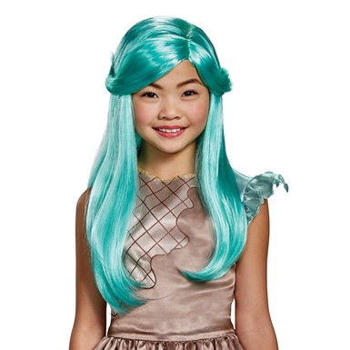 Girls Shopkins Peppa-Mint Teal Halloween Wig