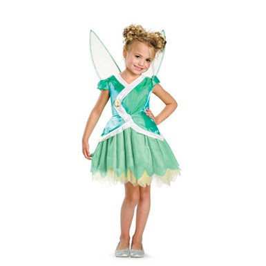 Girls Tinkerbell Classic Disney Halloween Costume