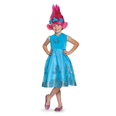 Girls Trolls Poppy Costume with Wig