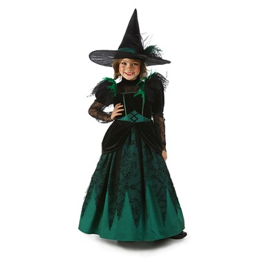Girls Wicked Witch Pocket Princess Costume