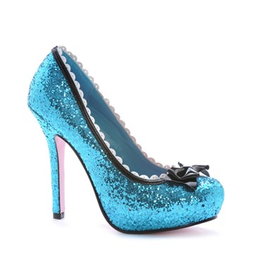 "Glitter Blue Princess Womens 5"" High Heels"