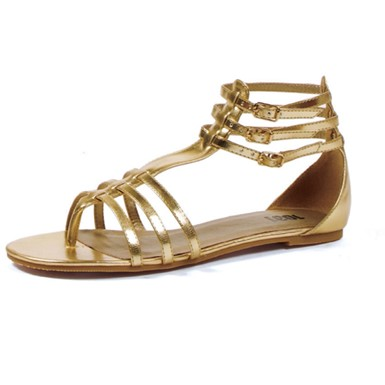 Gold Gladiator Shoes - Rome