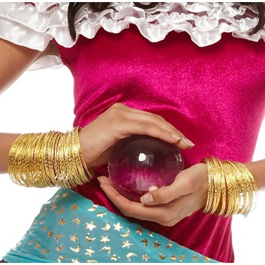 Gold Gypsy Bangles Halloween Costume Accessory