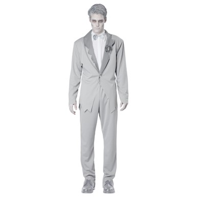 Gothic Ghostly Groom Adult Mens Halloween Costume