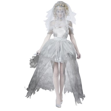 Gothic Womens Ghostly Bride Halloween Costume