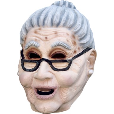 Grandma Old Lady Adult Mask for Halloween Costume