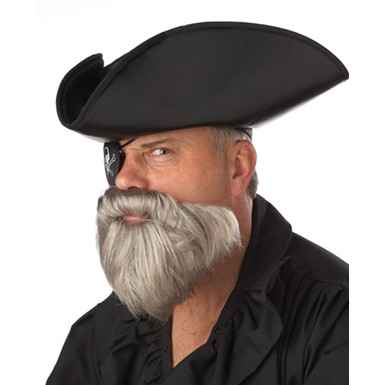 Grey Pirate Captain Beard