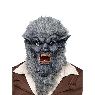 Grey Wolfman Animal Fairytale Halloween Mask