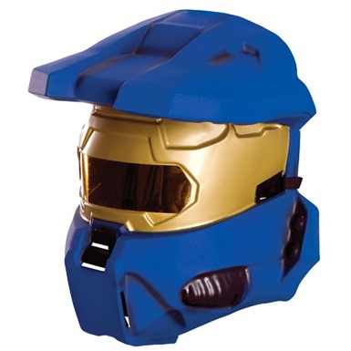 Halo Blue Spartan Half Mask