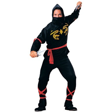 Haunted House Ninja Costume - Black