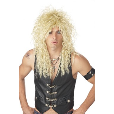Headbanger Blonde 80's Wig for Adult Halloween Costume
