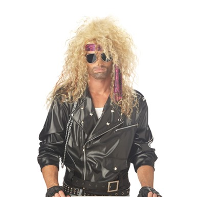 Heavy Metal Rocker Blonde Wig for Halloween Costume