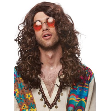 Hippie Rock Star Jim Morrison Adult Mens Costume Wig