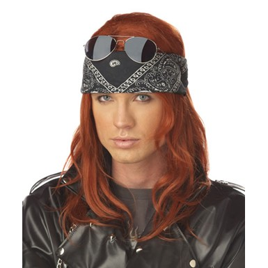 Hollywood Rocker Mens Axel Rose Halloween Wig
