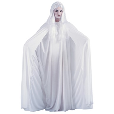 "Hooded Cape - 68"" White Vampire Costume Accessories"